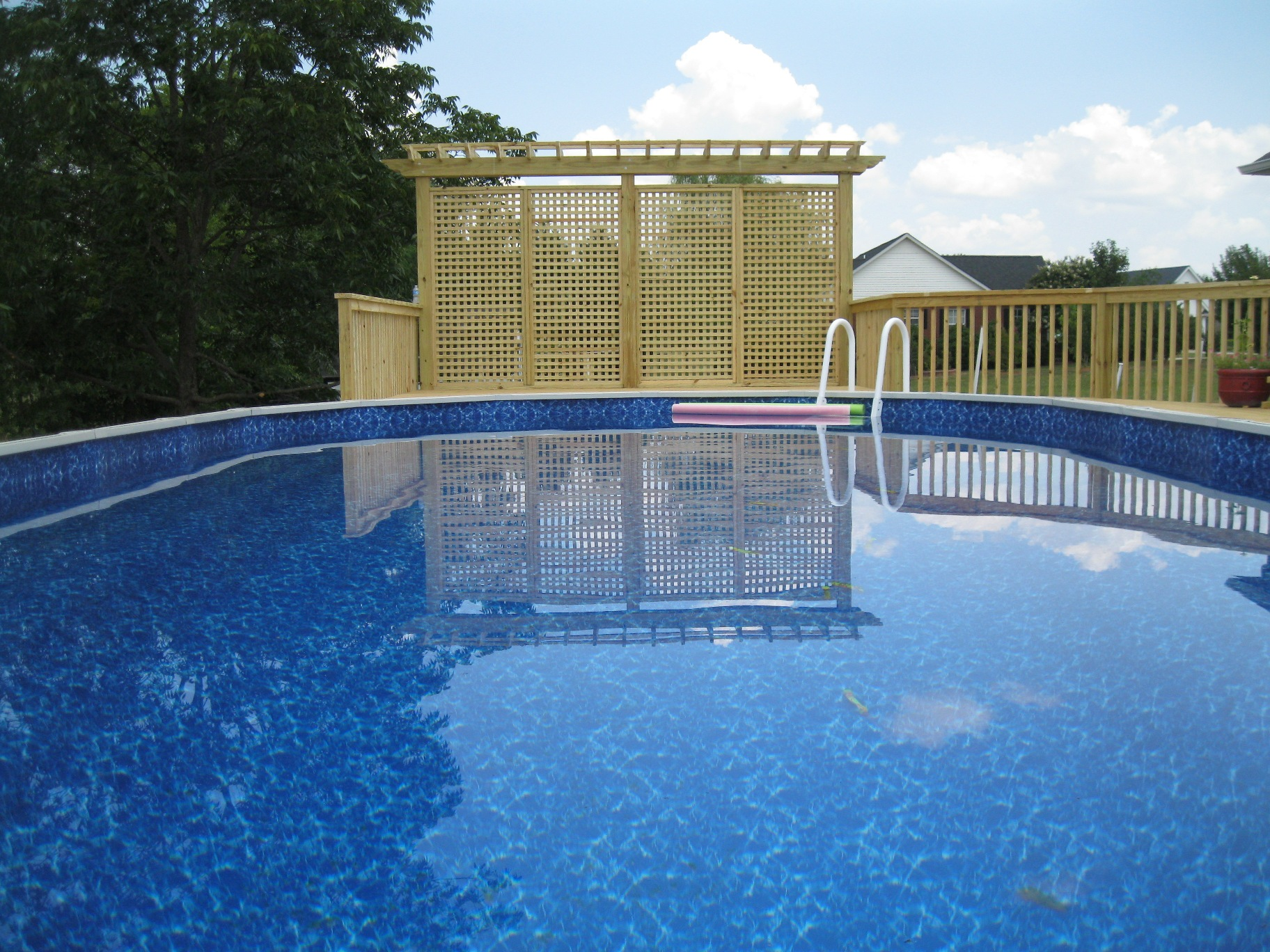 General contractor azteca outdoor atlanta ga deck pool 18x34 for Above ground pool decks las vegas